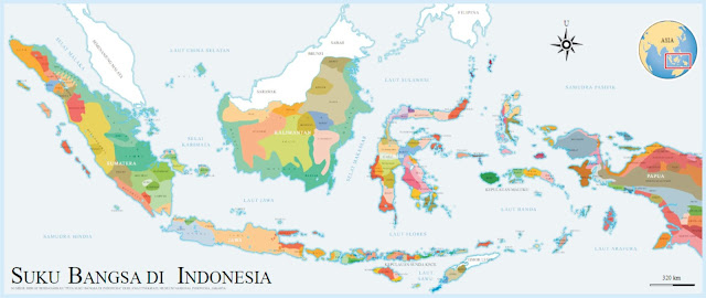 peta suku bangsa di indonesia