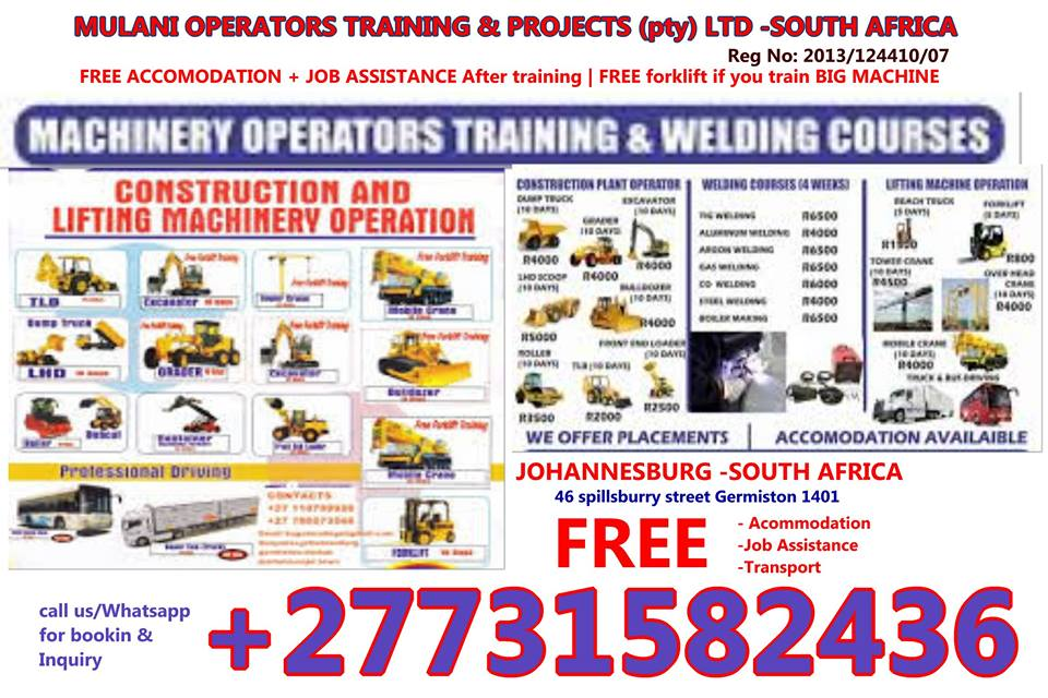BEST TRAINING SCHOOL - +27731582436