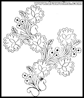 Hand made embroidery designs paper/simple embroidery designs images free download/ flowers embroidery draw with pencil.