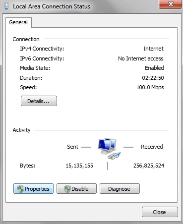 Fix Error 651 past Disabling IPv6 of your Internet Connection
