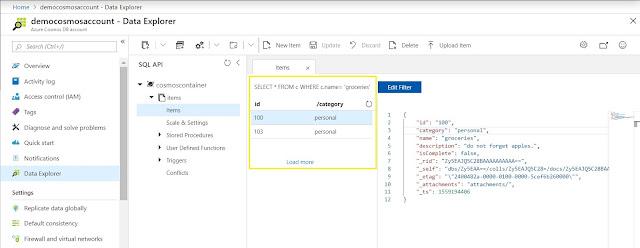 Data Explorer - Apply Filter