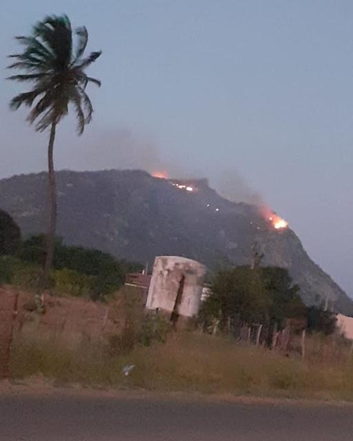 Focos de incêndio são controlados na Serra da Capelinha, em Parelhas
