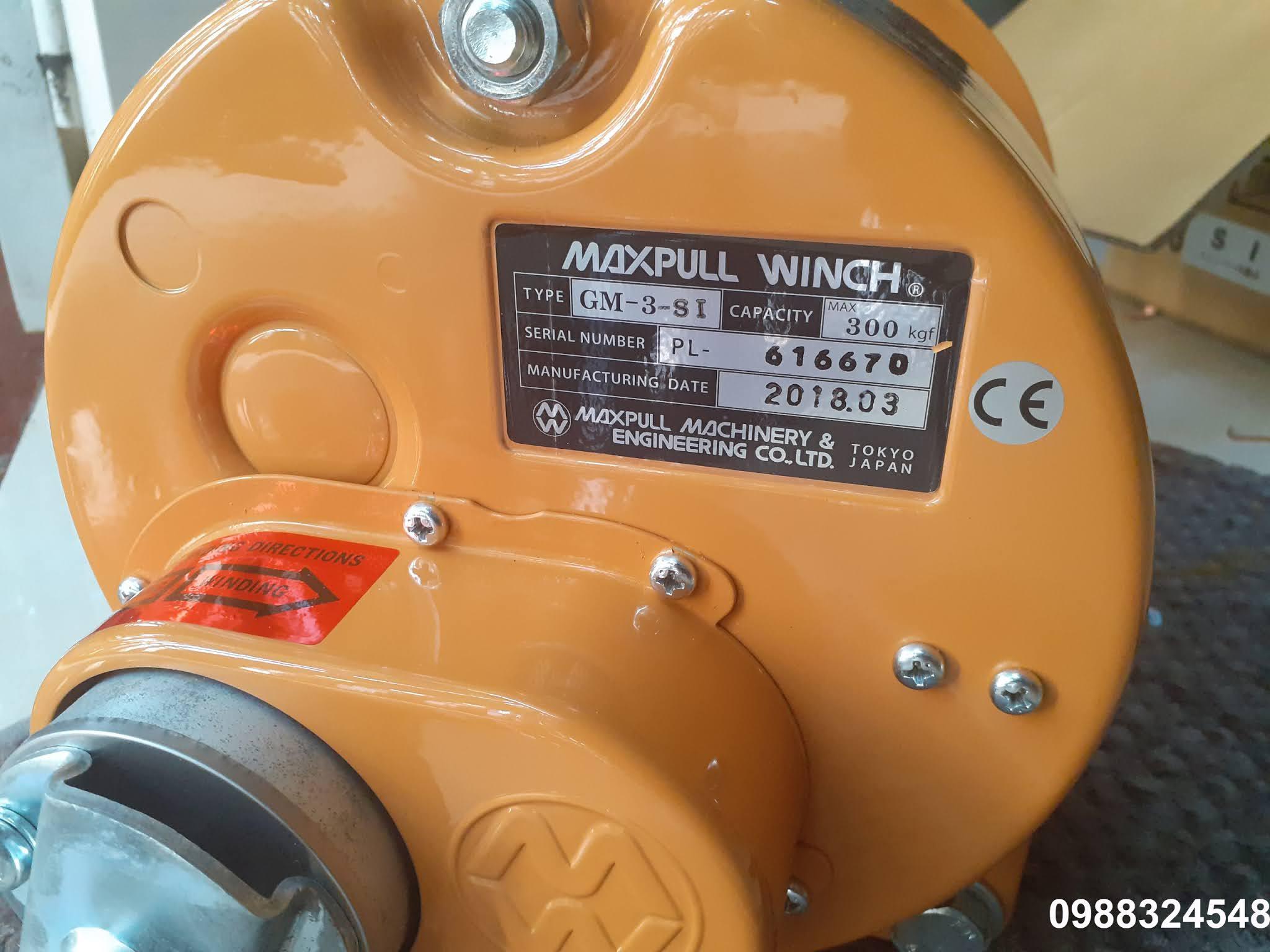 Tời quay tay Maxpull GM-3-SI 300kg