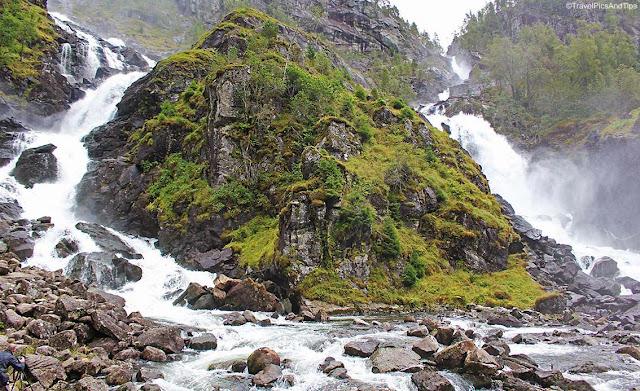 Cascade Latefossen, région d'Odda, Norvège du sud