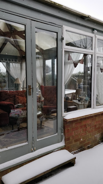 recycled wooden conservatory