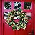 Őszi koszorú - Színes termések az ajtón
