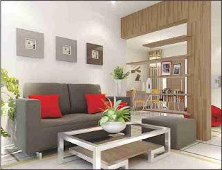 Desain interior rumah minimalis tipe 36 ruang tamu