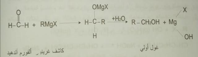 ضم كواشف غرينيار RMgX إلى المركبات الكربونيلية