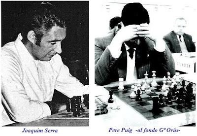 Los ajedrecistas españoles Joaquim Serra y Pere Puig