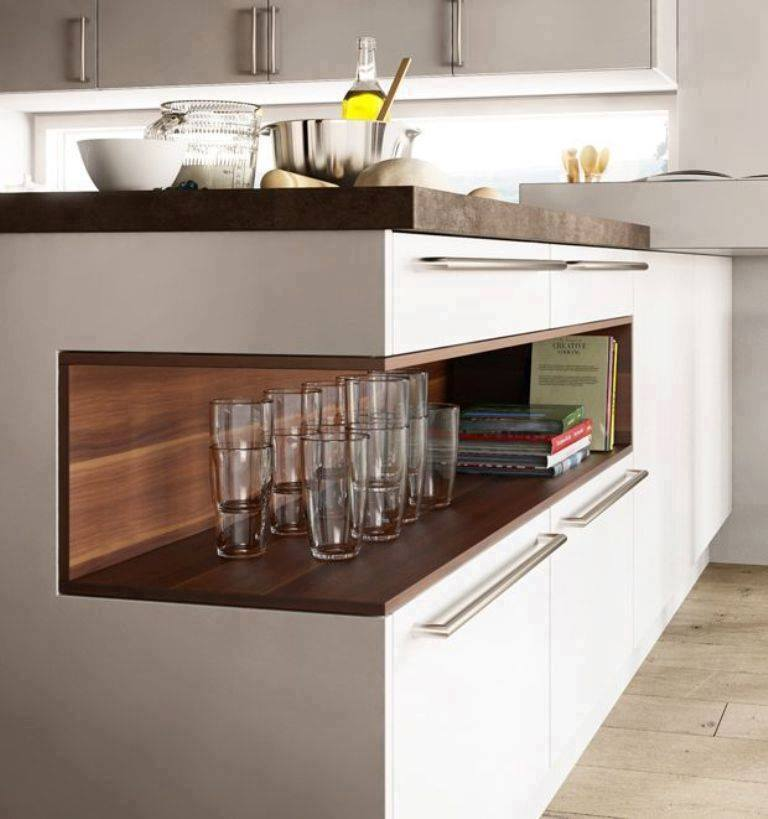 Material For Kitchen Cabinet: Clever Kitchen Cabinet Storage Ideas