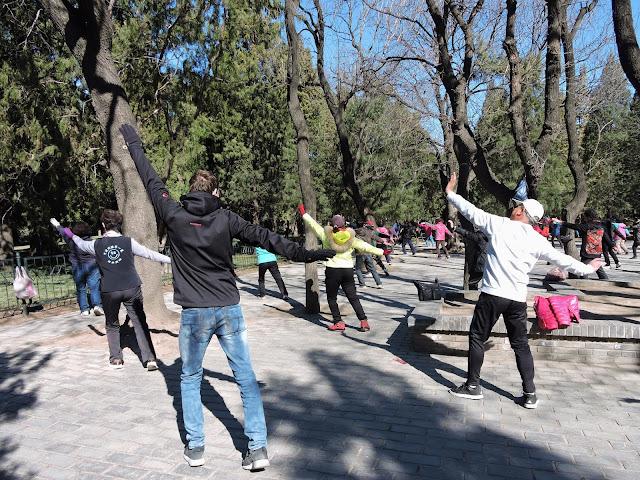 Tai chi - Visite du temple du vent à Pékin