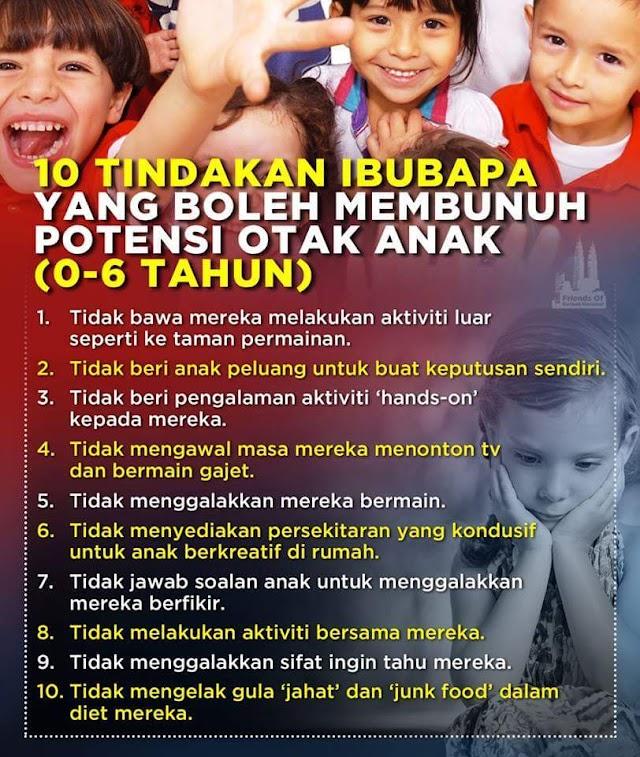 WW | 10 KESILAPAN IBU BAPA YANG MEMBUNUH POTENSI ANAK-ANAK!