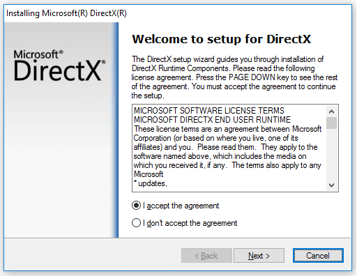 Install DirectX