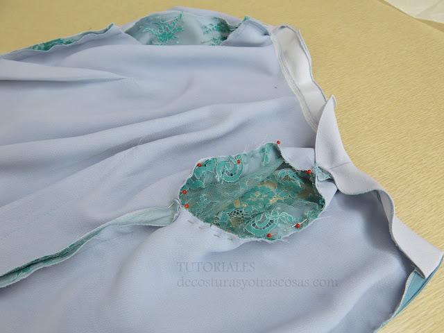 como coser una manga a un vestido