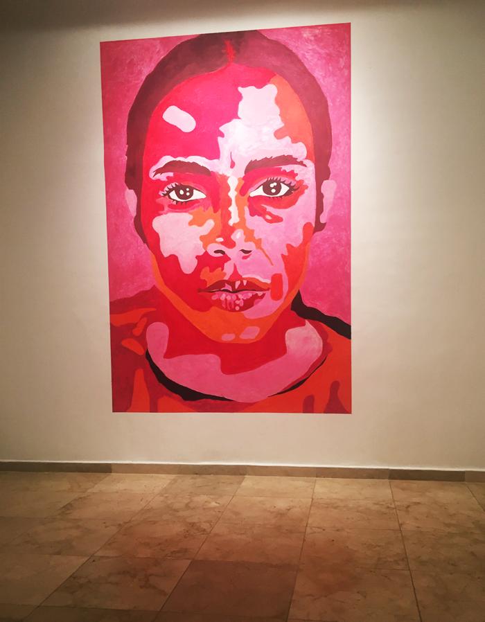Valentina Vaguada: art, jorge pineda,lipstick, mural, wall paint, ana mendieta