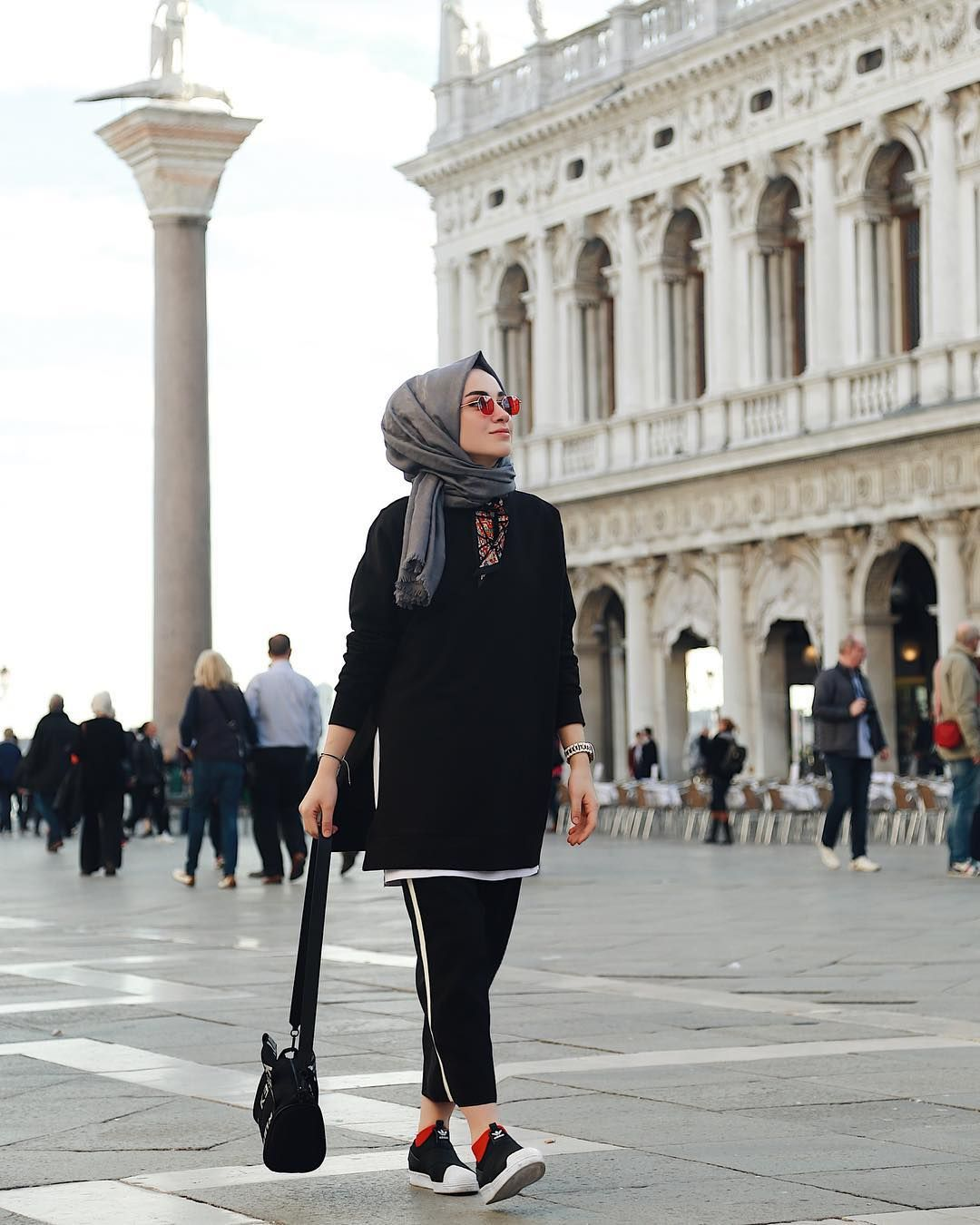 trend hijab simple casual muslimah