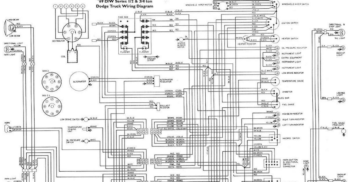 196939s d w series dodge truck wiring diagram wiring diagrams