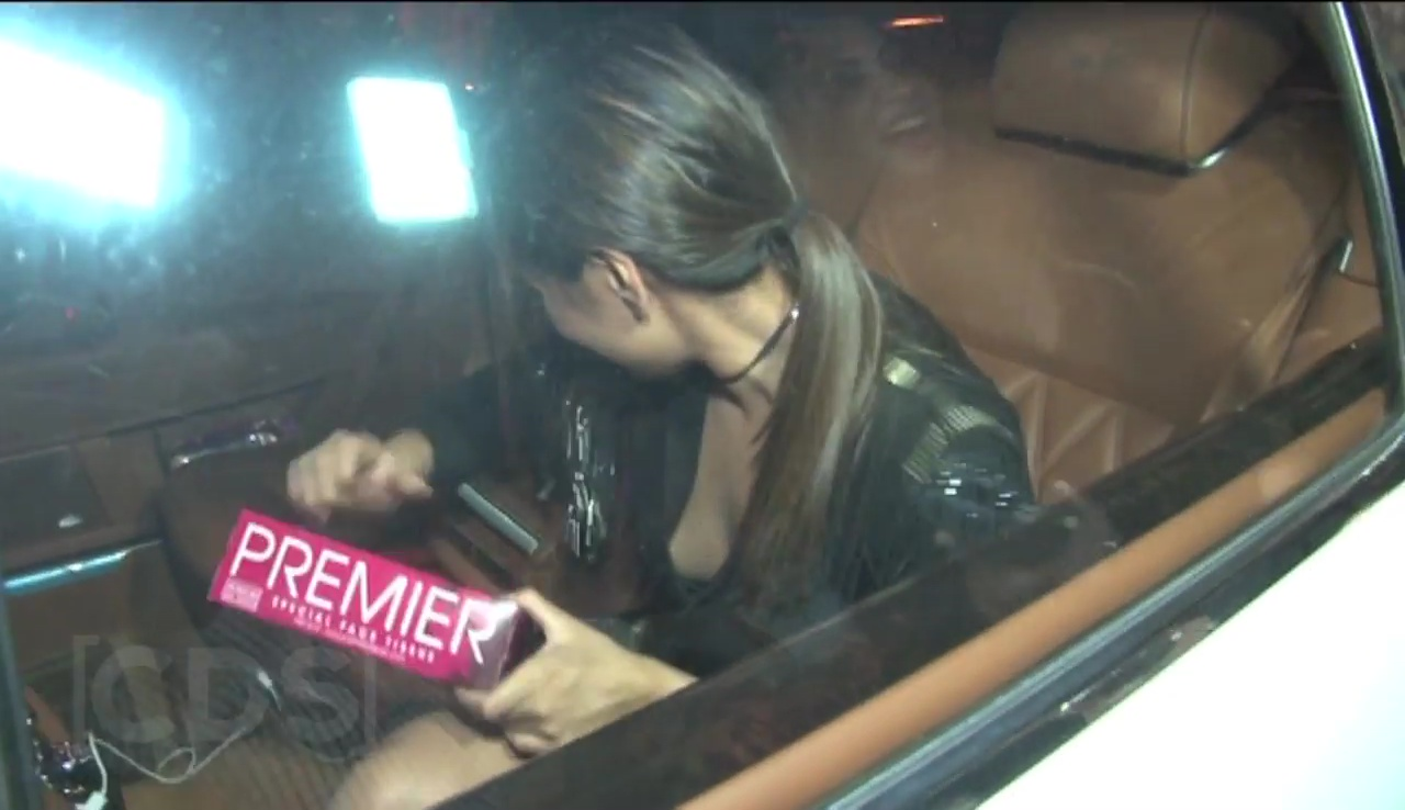Sonakshi Sinha Spotted in a Car outside film studio