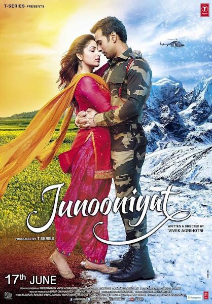 Poster Of Junooniyat 2016 480p Hindi pDVDRip Full Movie Download