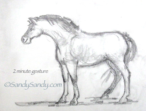 Drawing Everyday*: Still Horse Crazy