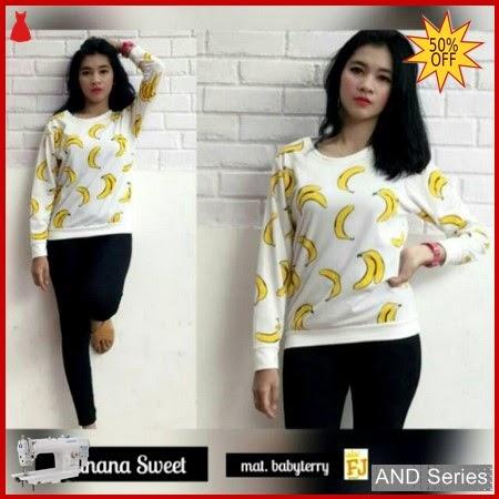 AND019 Baju Atasan Wanita Kaos Atasan Banana BMGShop