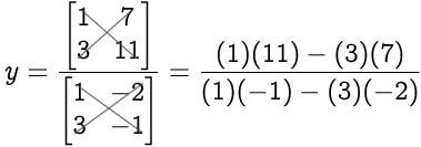 Math Principles: Solving 2 x 2 Determinants