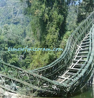 Mizoram Bailey bridge (Tuirini) collapse