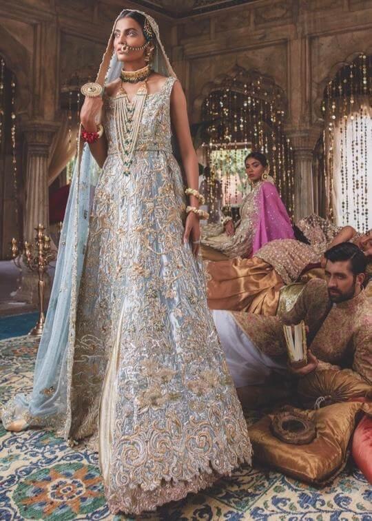 Beautiful Pakistani bridal wear from Zainab Salman's latest collection Bazeecha-e-Ishq
