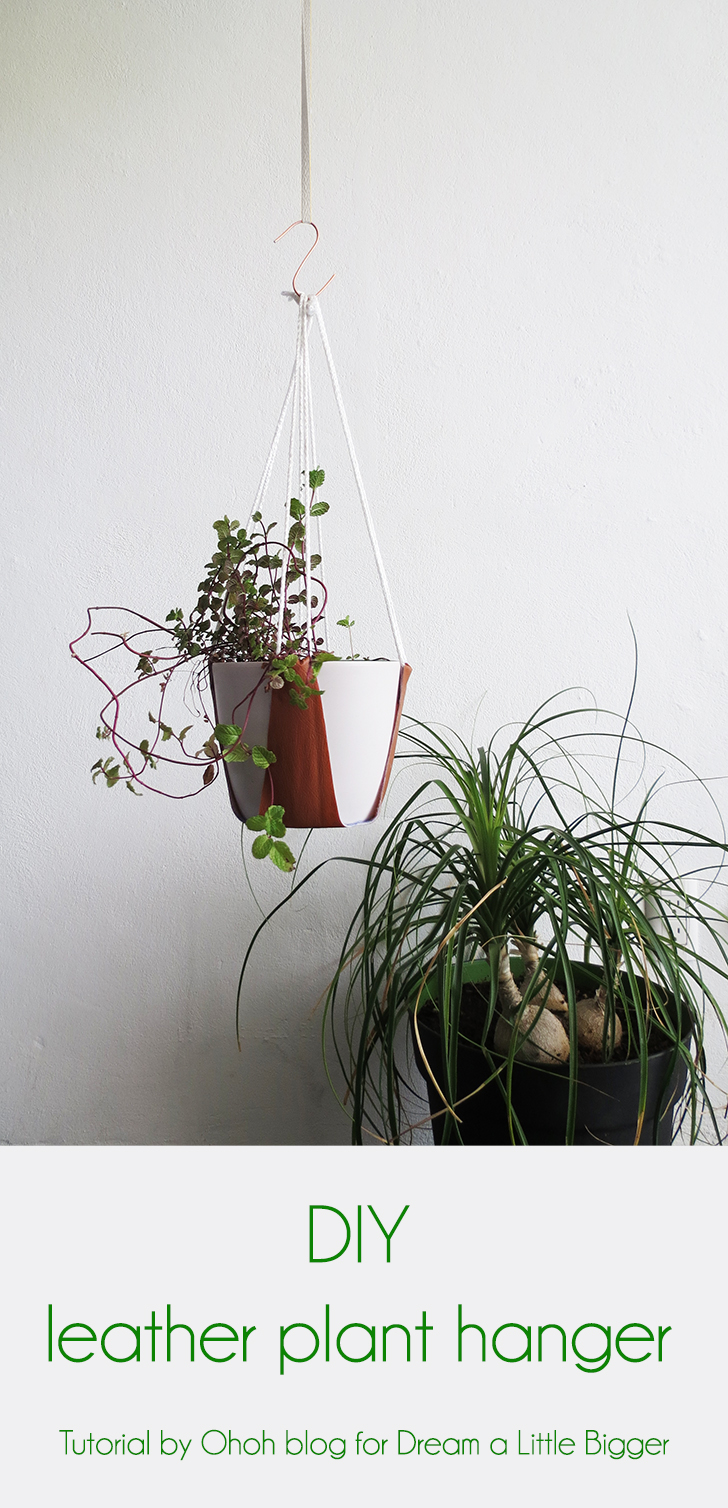 how to make a leather plant hanger ohoh blog