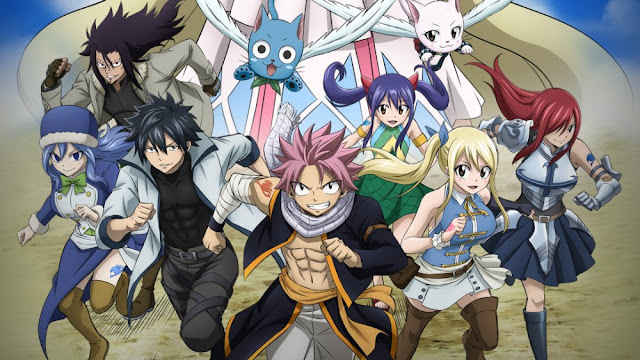 Fairy Tail friends Natsu and other characters