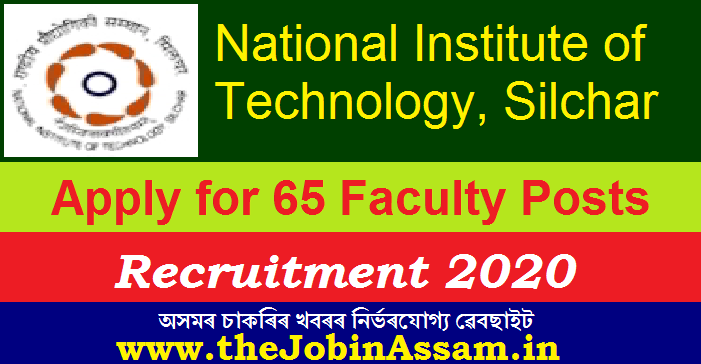 NIT Silchar Recruitment 2020: