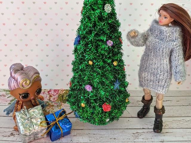 Миниатюрная новогодняя елка своими руками