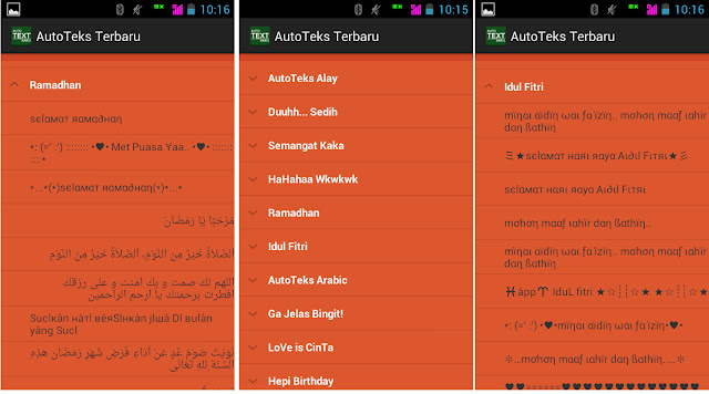 Auto Teks Keren Untuk Ucapan Lebaran di Android Special Bulan Ramadhan