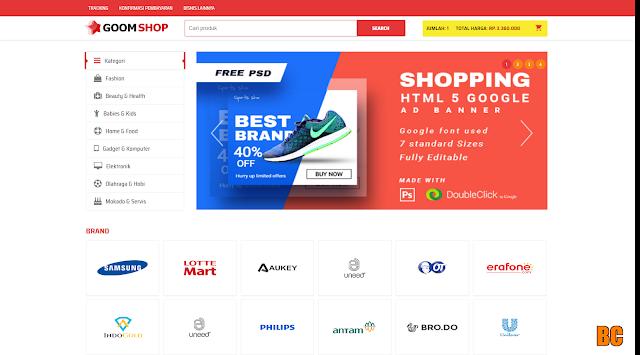 Download GoomShop Online Shopping Blogger Template 2020