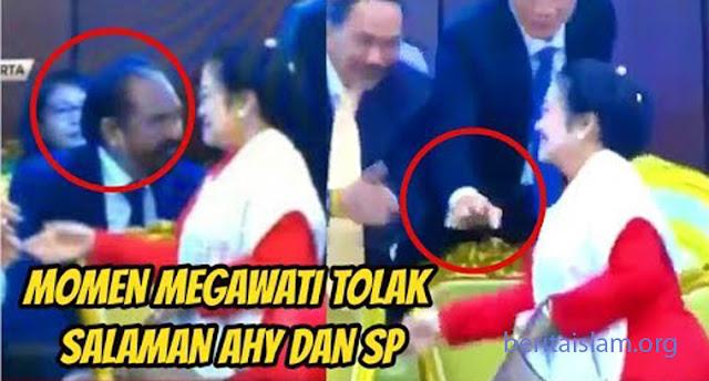 Megawati Tak Mau Salaman Dengan Surya Paloh