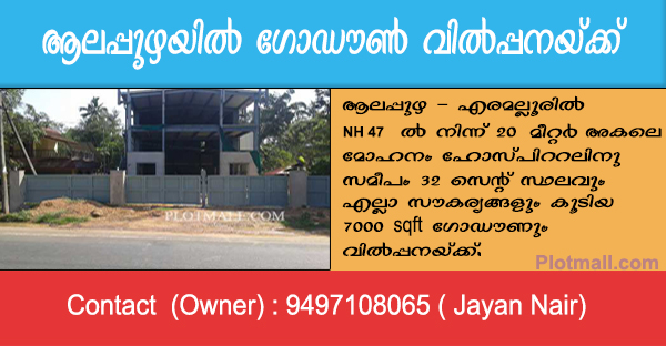 Godown For Sale in Alappuzha
