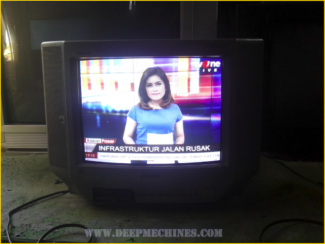 Gambar TV SONY 14-Inch (KV-J14P2S) Selesai Diperbaiki
