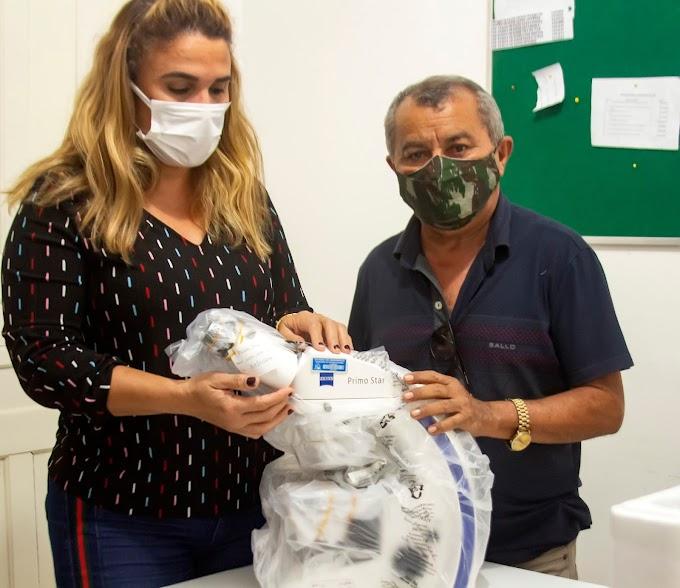 Secretaria de Saúde de Turilândia é beneficiada com microscópio após cumprimento de metas