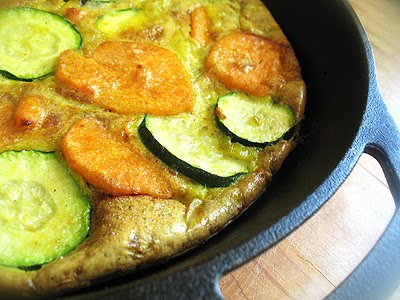 sweet potato frittata with zucchini