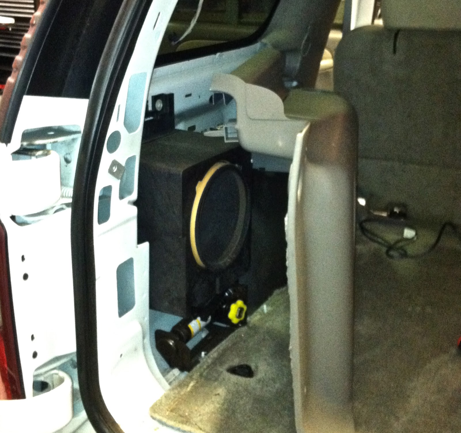 medium resolution of you are now almost to the sub the panel secured to the driver side rear pillar must be removed once again this panel is held in place with just clips