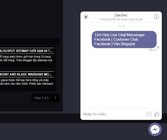Customer Chat Facebook,Livechat Facebook,Tích Hợp Live Chat Messenger Facebook, Plugin Customer Chat Facebook,chat cho blog,Tạo Facebook Messenger chatbox, tạo chatbox cho blogspot website wordpress