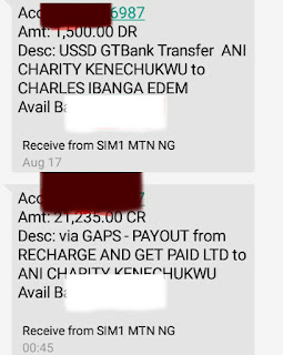 Recharge and get paid payment