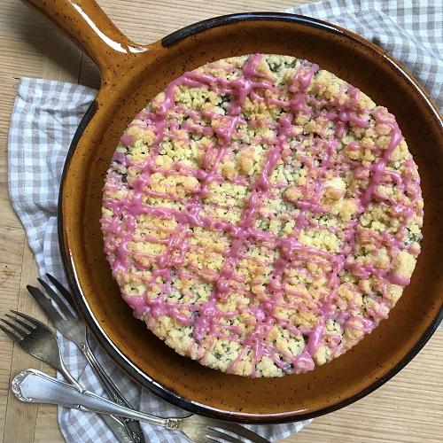 Streuselkuchen mit Mohnpudding