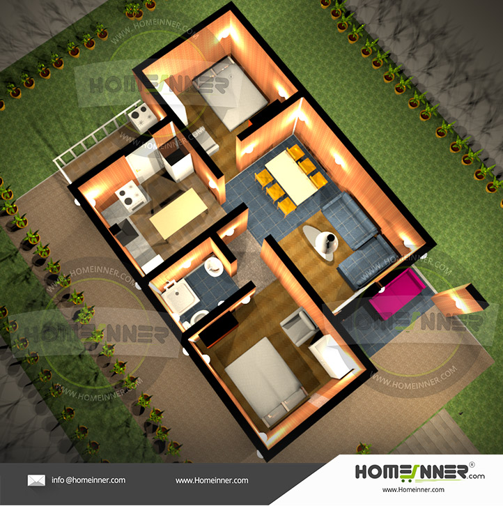 2 Bedroom House Plans Free | Two Bedroom | Floor Plans