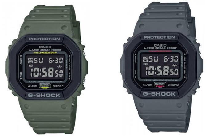 G-Shock DW-5610: DW-5610SU & DW-5610SUS Layered Bezel
