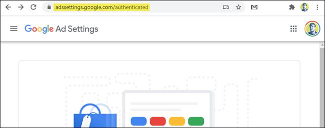 صفحة إعدادات إعلانات google