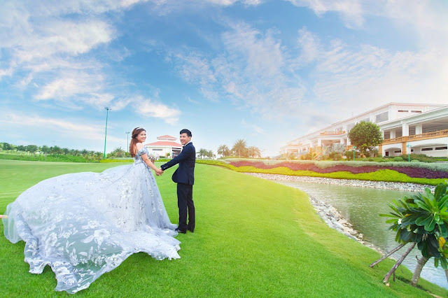 Combine the best wedding photos at the Golf Course in Vietnam