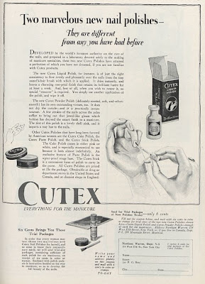 Cutex advert 1922 first nail polish