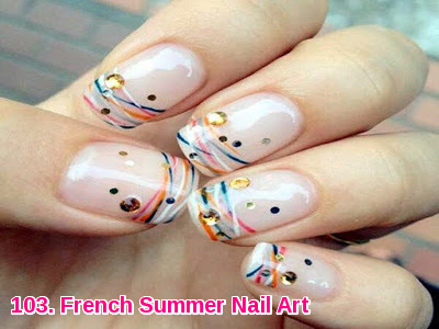 French Summer Nail Art
