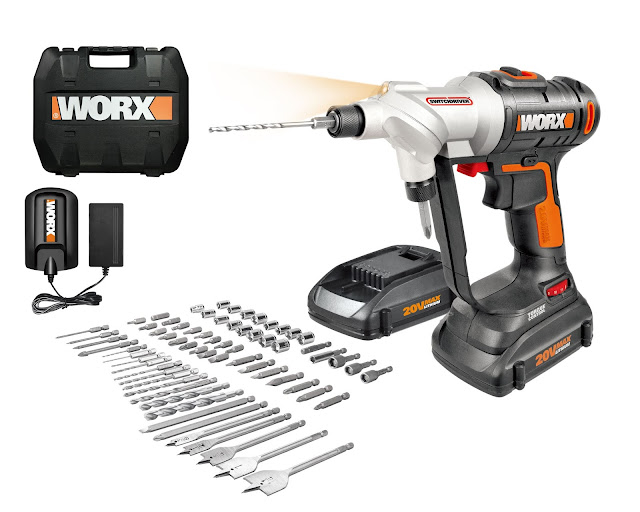 20V SWITCHDRIVER WORX DRILL & DRIVER W/ 67 PC. KIT GIVEAWAY